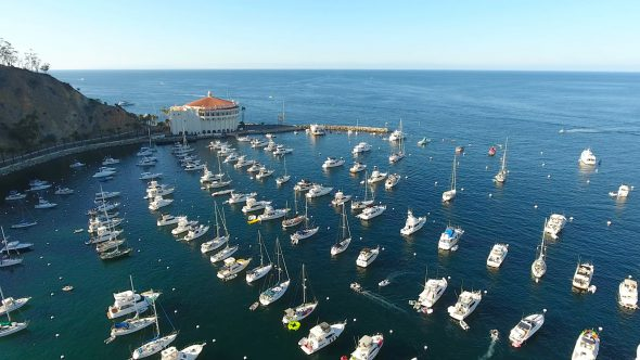 Sta. Catalina Harbor 7 Royalty Free Stock Drone Video Footage
