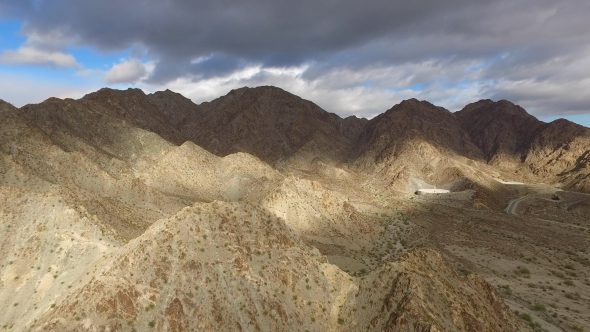 Sta Rosa Mountain Ranges in La Quinta Royalty Free Stock Drone Video Footage