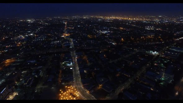 L.A. City Night Lights and Roads 5