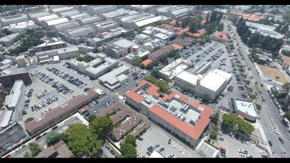 Warner Bros. Studios WB Tank 2 Royalty Free Stock Drone Video Footage