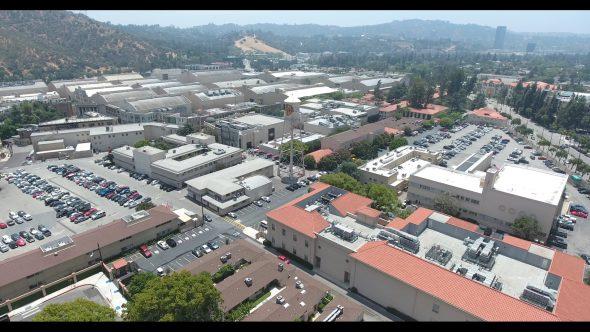 Warner Bros. Studios WB Tank 3 Royalty Free Stock Drone Video Footage