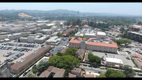 Warner Bros. Studios WB Tank 5 Royalty Free Stock Drone Video Footage
