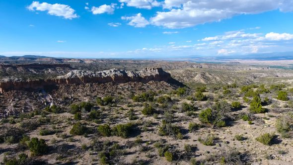 New Mexico Desert Canyons 2 Royalty Free Stock Drone Video Footage