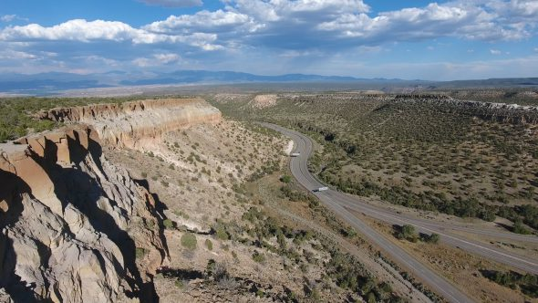 New Mexico Canyons Along a Winding Highway Valley 2