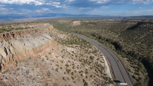 New Mexico Canyons Along a Winding Highway Valley 1