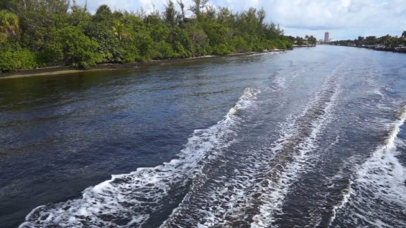 Boat Passes Under