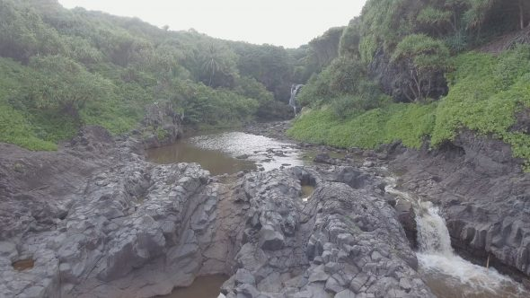 Maui Rocky Forest River Falls 1