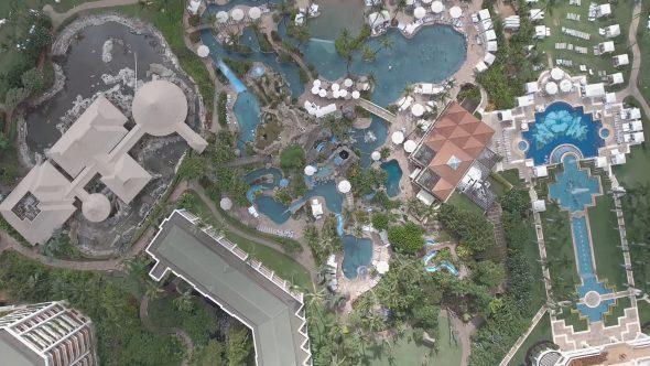 Maui Wailea Beach Resort 5 Royalty Free Stock Drone Video Footage