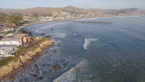 Cayucos, California Shoreline Pier 1
