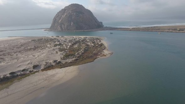 Flight Above Morro Bay