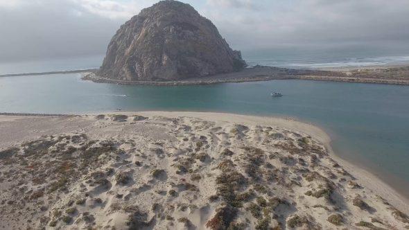 Flight Across Morro Bay to the Rock