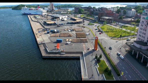 The Sea Side Bay and Ship Dock of Oslo, Norway
