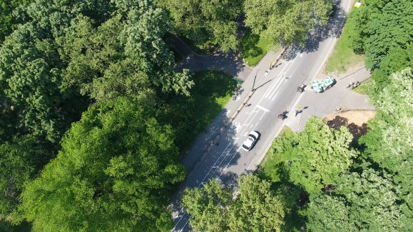 Aerial Drone Video In Central Park, Manhattan NY